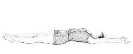 Stick Yoga Pose - Yastikasana