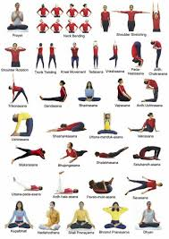list of 42 yoga poses of common yoga protocol of